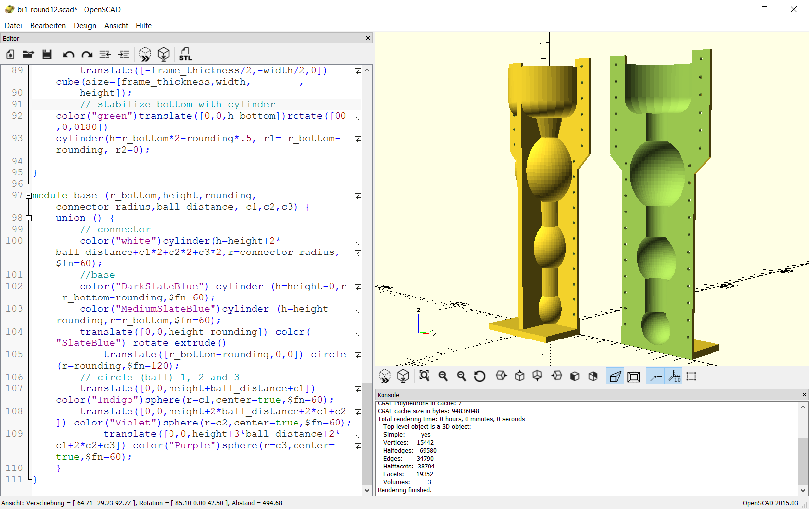 OpenSCAD as silicone molding form generator – body interaction